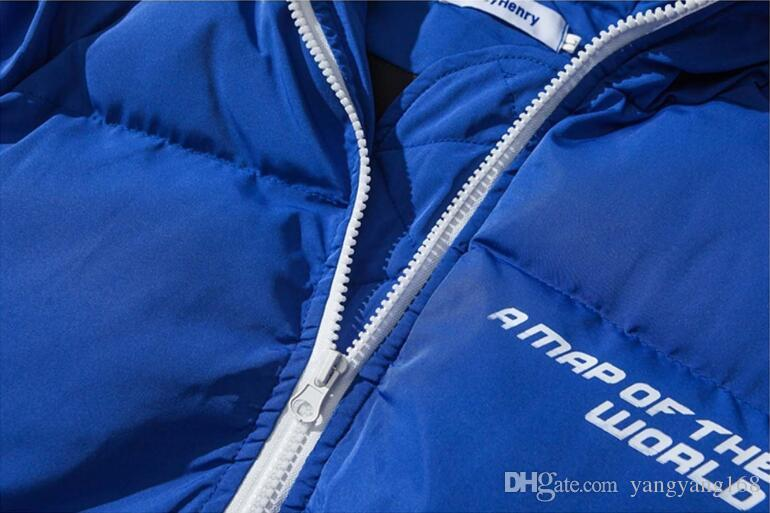 2017 Original Design winter justin bieber Thickening hooded cotton padded clothes Air Force pilot jacket Superstar kanye west high street