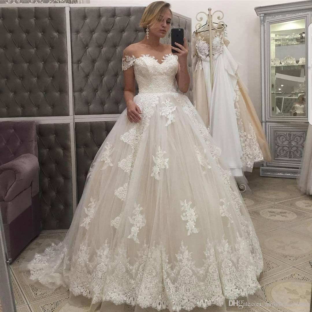 85c4f9aa5199 Off Shoulder Sweetheart Lace Ball Gown Wedding Dresses Plus Size Vintage  Sweep Train Bridal Dresses Wedding Gown From China Bridal Dress Cheap Formal  ...