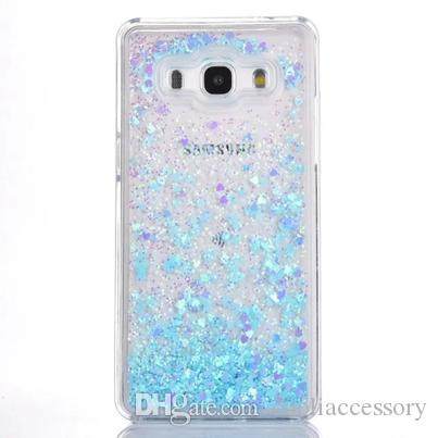 For Samsung Galaxy Grand Prime G530 G530H Quicksand Love Liquid Hard PC Case Glitter Clear Heart Dynamic Flow Shiny Skin Cover Luxury
