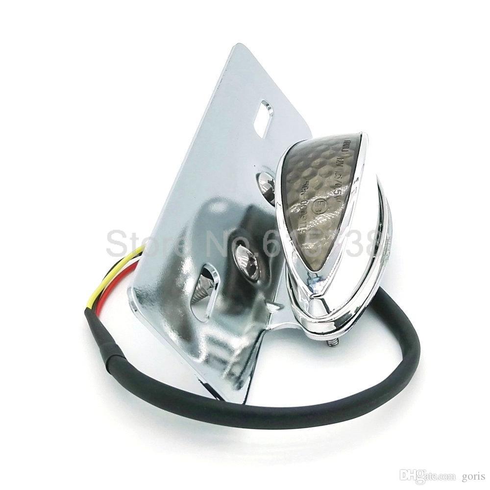 واضح عدسة الفضة كروم دراجة نارية لوحة ترخيص جبل ضوء الفرامل الذيل ضوء ل ATV DIRT المروحية لهوندا ياماها