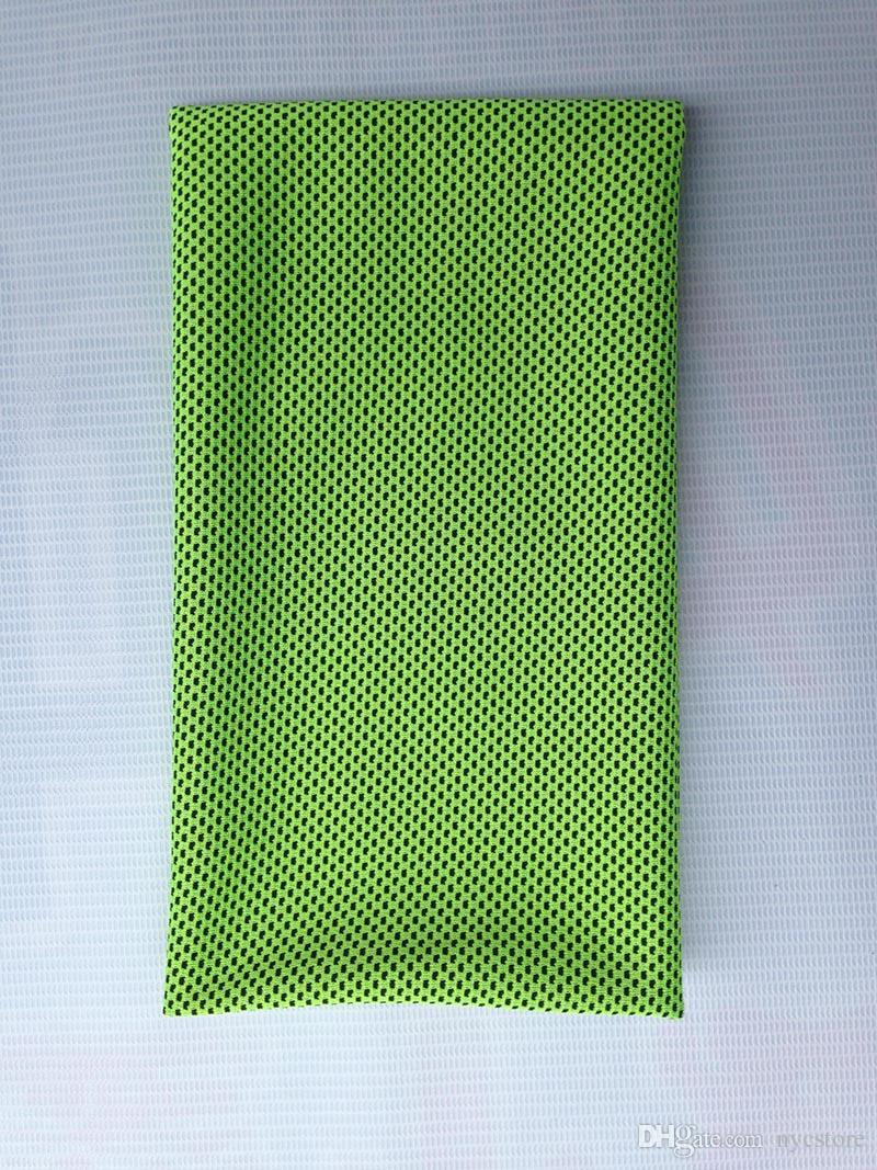 Refroidissement Performance Serviette 90X35cm Sports En Plein Air Glace Froid Foulard Pad Cravate Bandeau Bandeau D'été Plage Nécessité Fournitures Refroidissement Cadeau