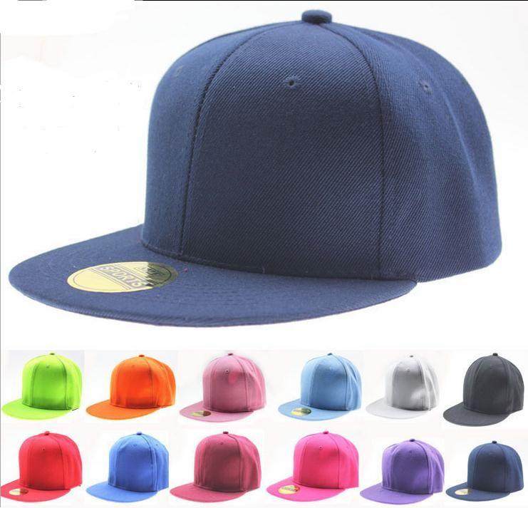 aeb25512e47 Blank Plain Snapback Hats Unisex Men S Hip Hop Adjustable Bboy Solid  Colored Baseball Cap NEW Kangol Baseball Caps From Chaplin
