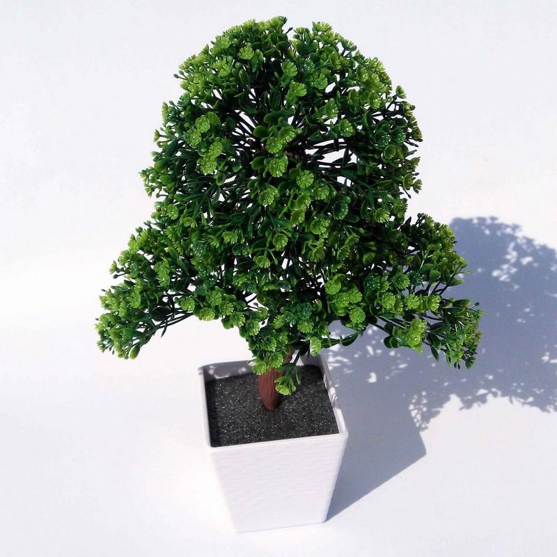 2019 Artificial Plants Bonsai For Home Decorative Plastic Trees Flowers Decoration Imitation Potted Holly From Home1688