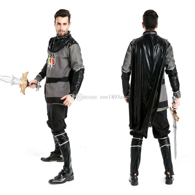 Deluxe Custom Men Halloween Pirate Viking Warrior Gladiator Rome Cosplay Costumes Party Medieval King Outfits Suit Cheerleader Halloween Costume Scary ...  sc 1 st  DHgate.com : leather gladiator costume  - Germanpascual.Com