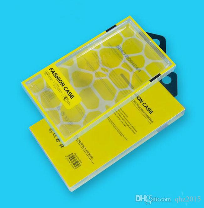 PVC 범용 소매 플라스틱 투명한 포장 크리스탈 상자 삼성 S5 S6 가장자리 아이폰 5S 6에 대 한 휴대 전화 가죽 지갑 케이스