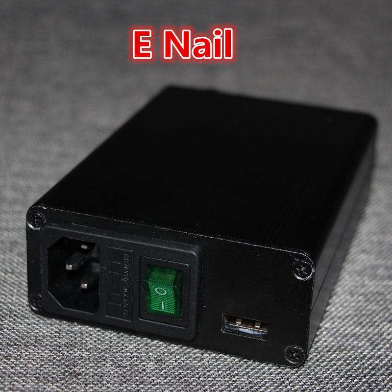 1 unidad de dhl envío gratis colector de néctar unidad eléctrica del clavo eléctrico caja de clavo bobina calentador con 5pin xlr enchufe 100 w vidrio bong