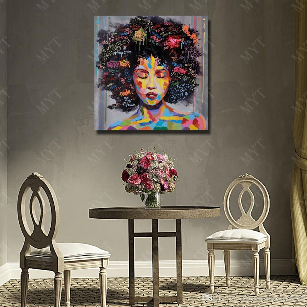Modern Design Women Oil Painting Bedroom Wall Decor Hand Painted Modern Pictures on Canvas Figure Painting No Framed
