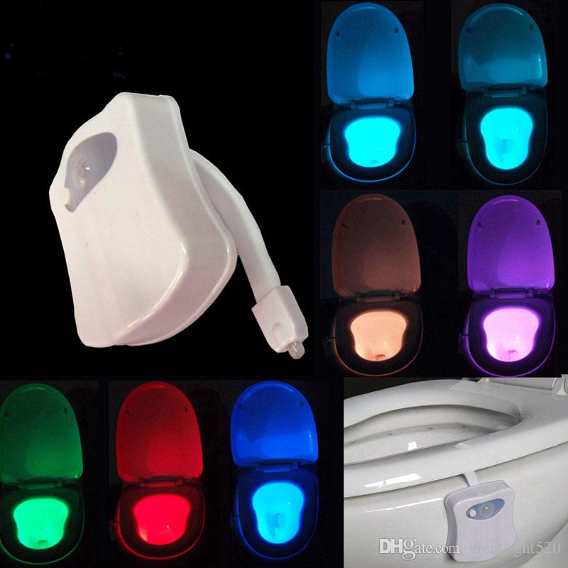 Bathroom Night Light 2017 led motion sensor toilet night light change toilet bowl light