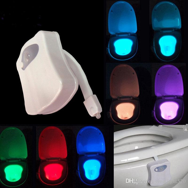 Led Bathroom Night Light 2017 led motion sensor toilet night light change toilet bowl light