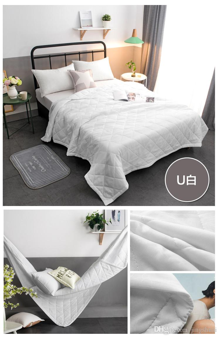 White Pink Summer Quilt Home Textiles Suitable for Kids Adult Blanket Comforter Bedspreads Bed Cover Quilting colcha de verano
