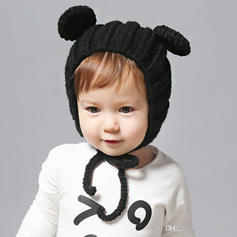 Trendy Baby Hats Toddler Winter Warm Beanie Lovely Ear Design Newborn Hat  Infant Hat Chapeu Infantil Accessories VF0013 Boys Hats Baby Hat Knitted  Hats ... 0312f3796f47