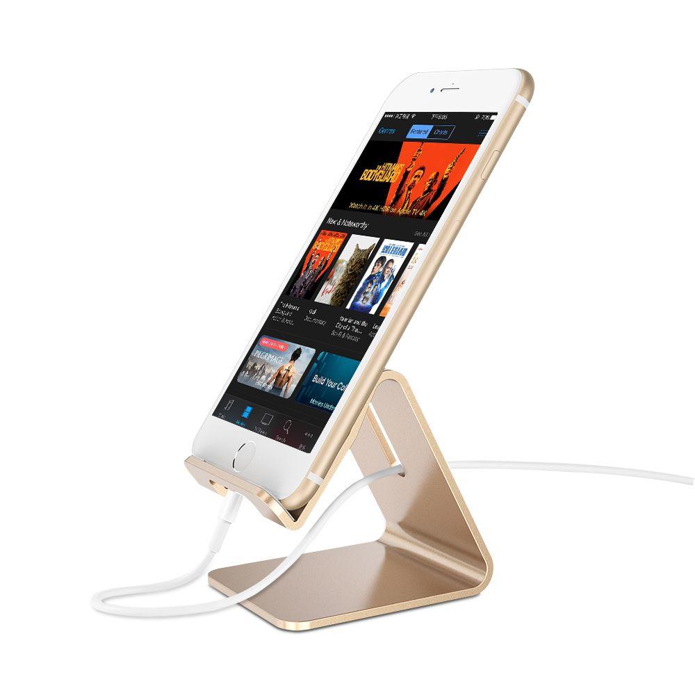 Best Quality Aluminum Metal Phone Holder Desktop Universal Non Slip Mobile Stand Desk For Iphone Pad Samsung Tablet At