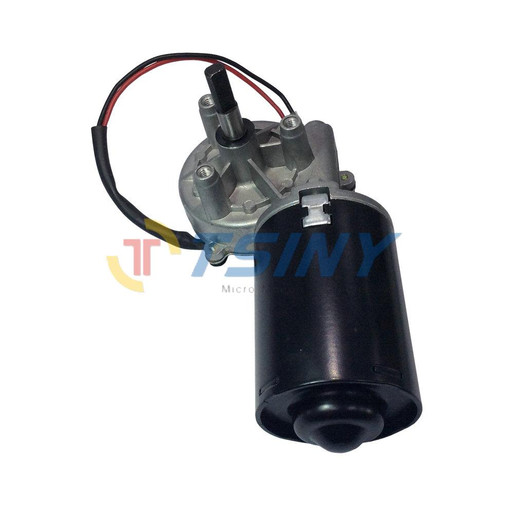 DC Gear Motor Garage Door Raplacement 24V Electric Right Angle Reversible Worm Gear Motor Left Gear-Box
