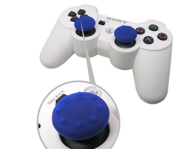 1000 pçs / lote macio Skid-Proof Silicone Thumbsticks cap Polegar tampas da vara Joystick cobre Apertos capa para PS3 / PS4 / XBOX ONE / XBOX 360 controladores