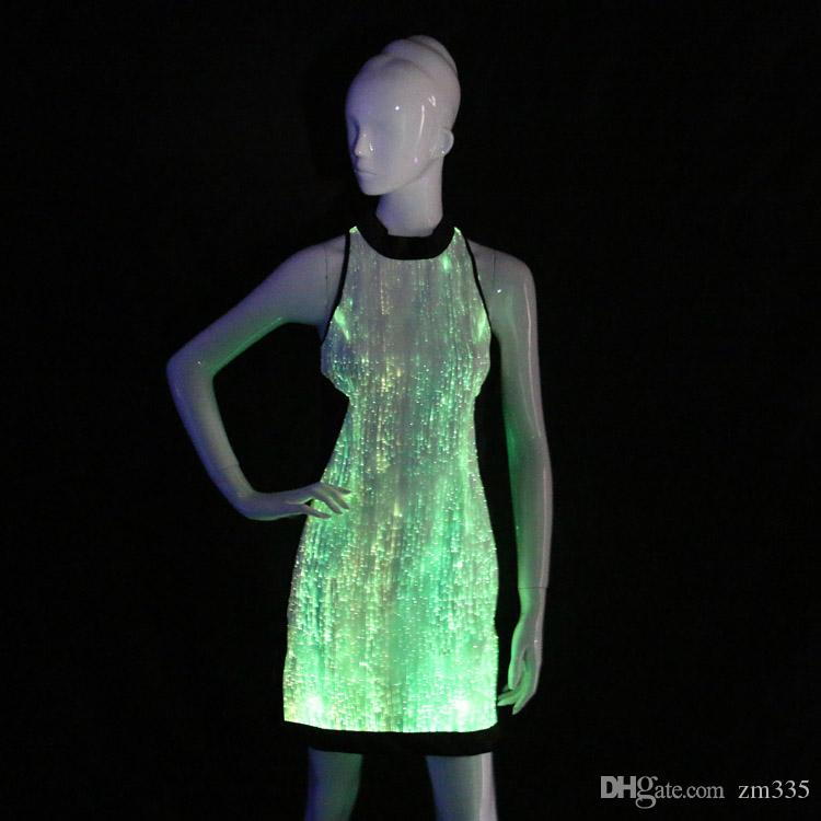 Led light up dresses glow in the dark bridesmaid