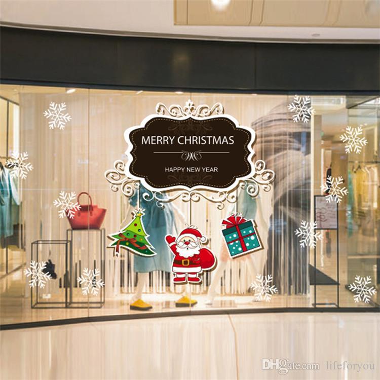 Noel ev dekorasyon Odaları için Pencere Dekor Ev Duvar