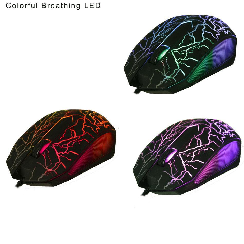 Malloom 2017 Nuevo 6 teclas Profesional Colorido Retroiluminación LED 4000 DPI Óptico Con Cable Gaming Mouse Gamer Ratones sem fio Para PC portátil
