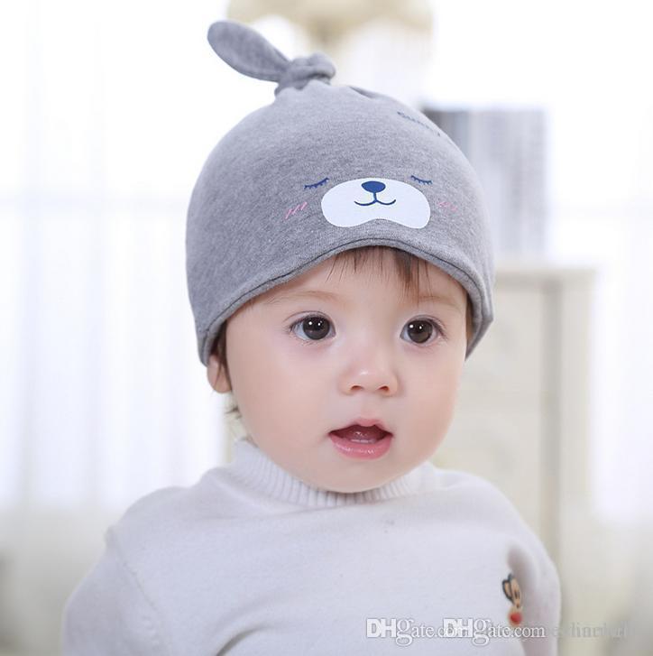b6efc0ce940 2019 Fashion Kids Cotton Cartoon Bear Unisex Boys Girls Infant Toddler  Children Caps I Love You Baby Hat T7019 From Shinebebe