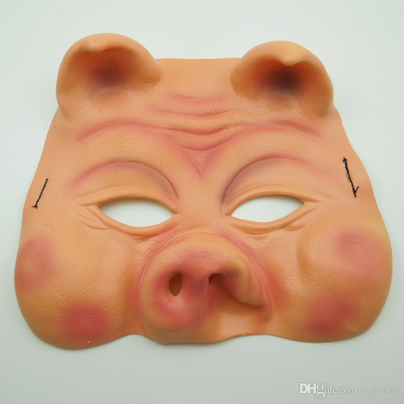 Cute Pig Mask upper half face party mask funny clown mask Halloween Party Mask Animal Mask