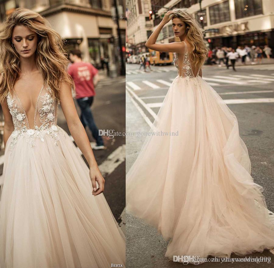 Discount 2017 Berta Bridal Pregnant Weding Dresses Sexy Backless ...