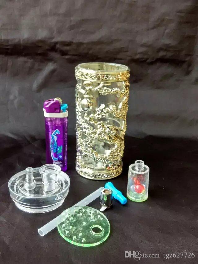 newAcrylic with Dragon Hookah ,Wholesale Glass Bongs Oil Burner Pipes Water Pipes Glass Pipe Oil Rigs Smoking