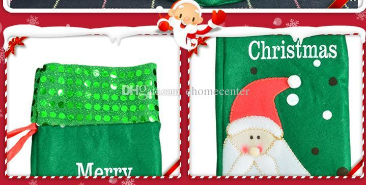 Santa red wine bottle bag Gift bag Father Christmas Cutlery Tableware Holder bottle Bag Cover Decor Suit Table Decorations HQ021