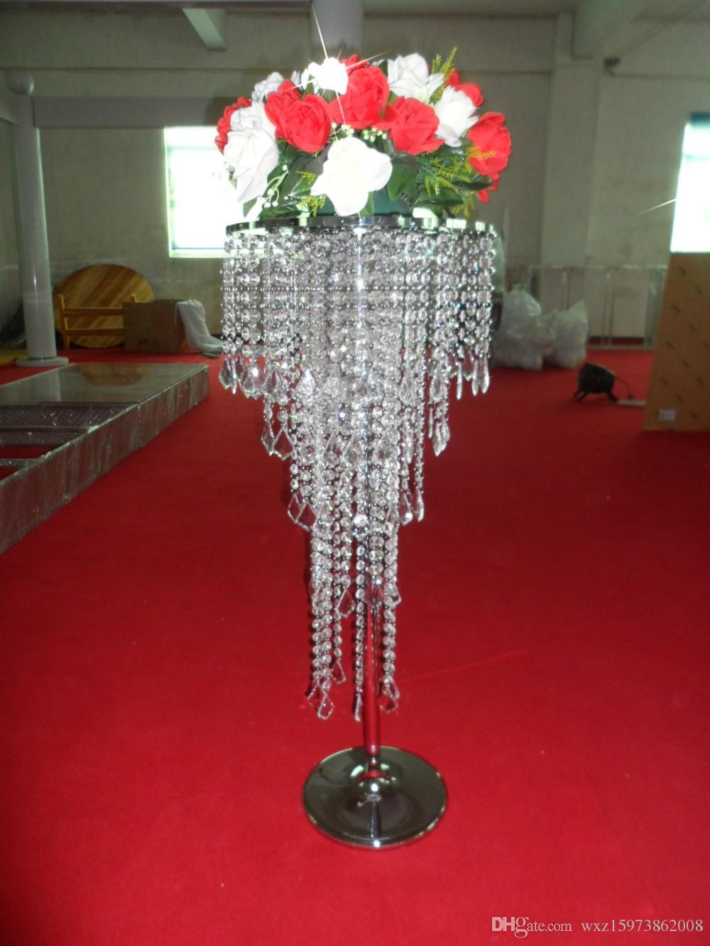 Acrylic Crystal Wedding Centerpiece Table 80cm Tall 35cm Diameter 5 Tier Decor Road Leads Candle Holder