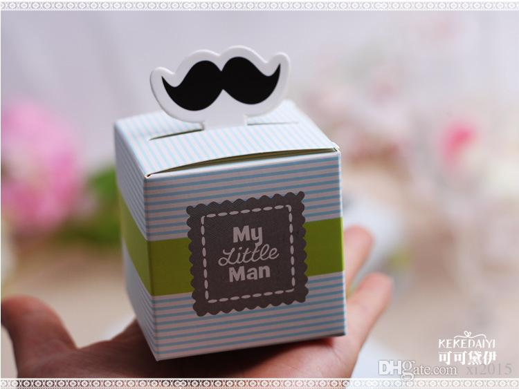 My little Man Cute Mustache Baby Shower Favors Baby Shower Decoration Birthday Souvenirs Birthday Gift Box
