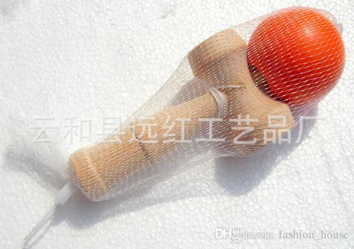 8 cores Novo tamanho Grande 18 * 6 cm Kendama Bola Japonês Tradicional Jogo De Madeira Toy Educação Presente Crianças brinquedos DHL / Fedex Frete grátis