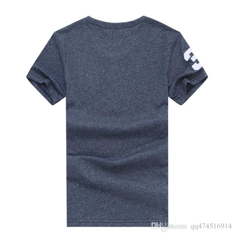 f10321167206 New Summer Cotton Big Horse Embroidery Men T Shirts Solid Color Slim Fit  Short Sleeve T Shirt Mens New O Neck Tops TShirt Brand Clothing Tee Shirts  Online ...