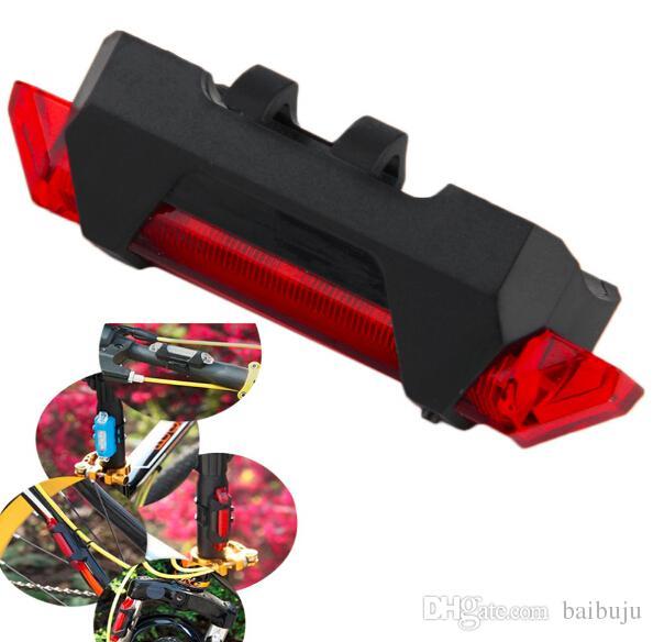 Bicicleta USB recargable luz led 4 modos impermeable bicicleta de montaña cola luz trasera envío gratis