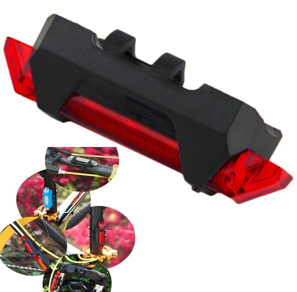 Bicicleta USB recarregável luz led 4 modos à prova d 'água mountain bike cauda luz traseira frete grátis