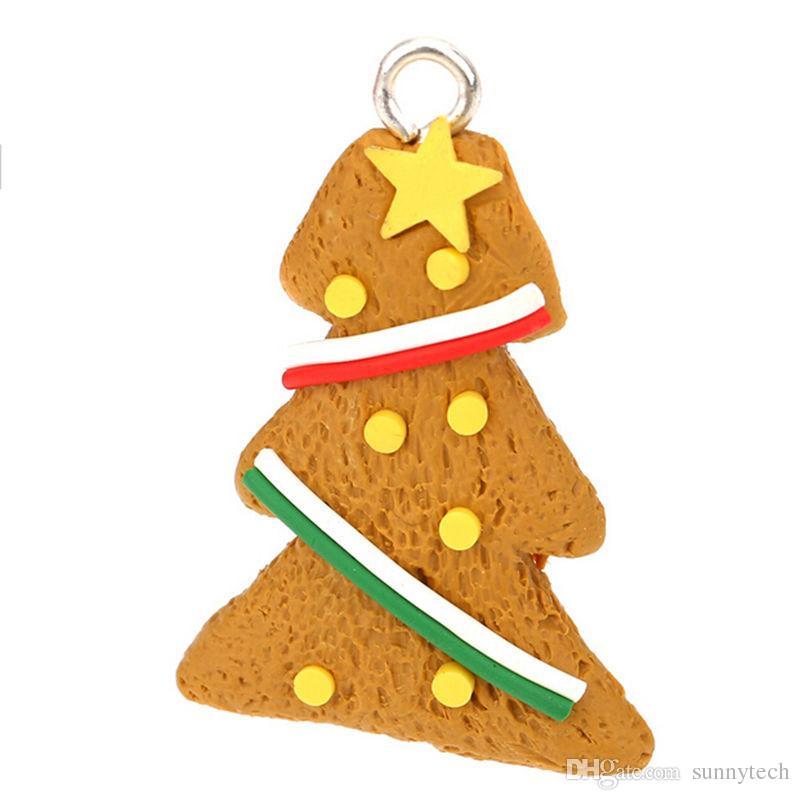 Beautiful Hanging Ornament Decor Polymer Clay Drop Pendants Christmas Tree Baubles Christmas Tree Decoration WA1021