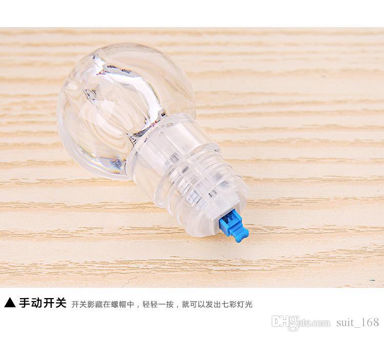 Brillantes coloridos bulbos Llavero / lámpara granos llavero / pequeña lámpara colgante / pareja llavero