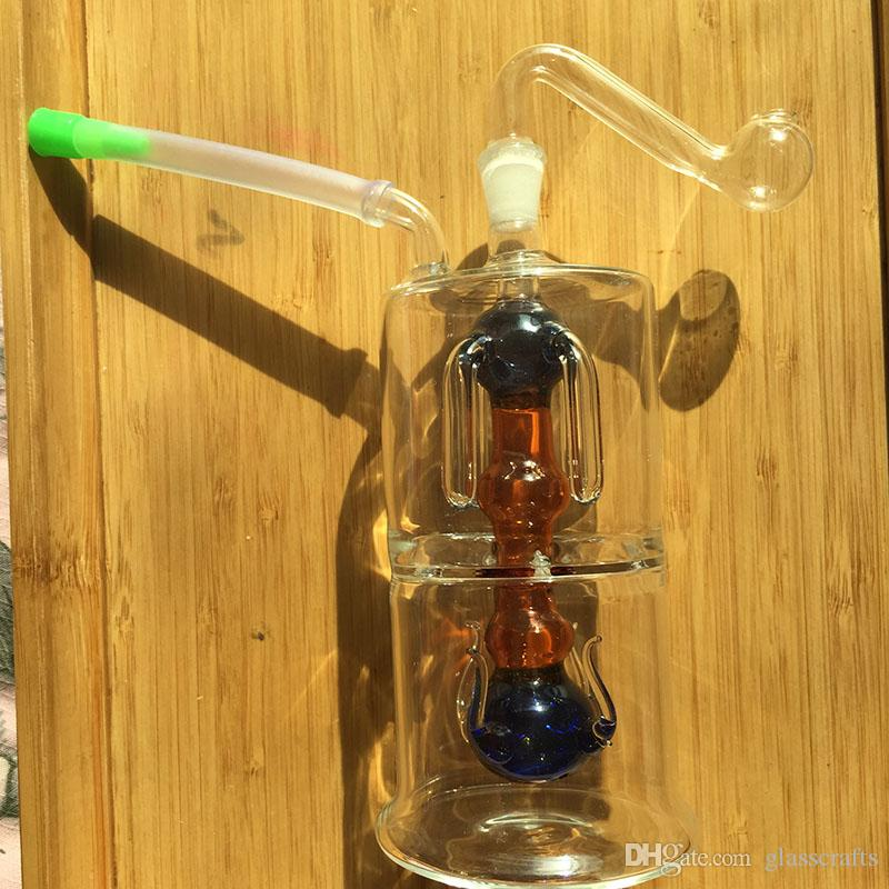 No.006 MINI glass Bong Inline Perc Glass Water Pipe Honeycomb Bong 10mm Ash CatchersBong Vortex Honeycomb Shiny Oil Rigs Water Smoking Pipes