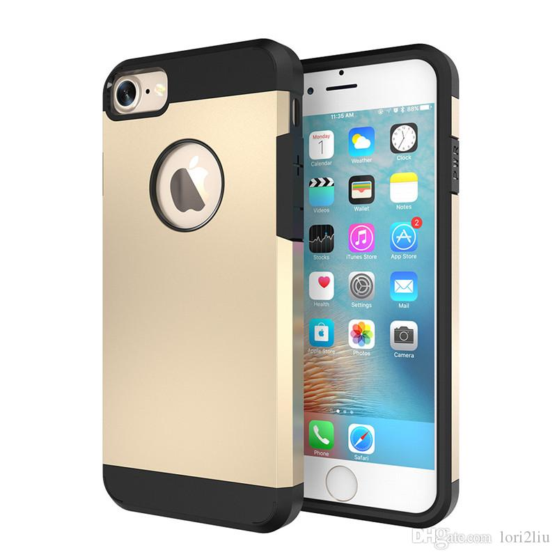 hard armor case for apple iphone 7 7s plus 6 6s plus 5 5s se mobilehard armor case for apple iphone 7 7s plus 6 6s plus 5 5s se mobile phone bag fashion back cover soft tpu hard pc shell with original logo cell phone