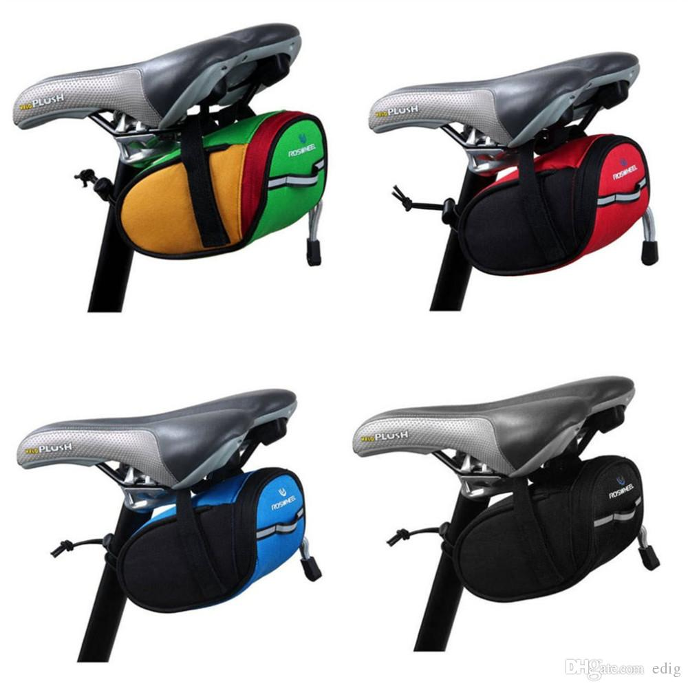 ROSWHEEL Cycling Mountain Road MTB Bike Saddle Bag Bicycle Back Seat Tail Rear Pouch Storage Package