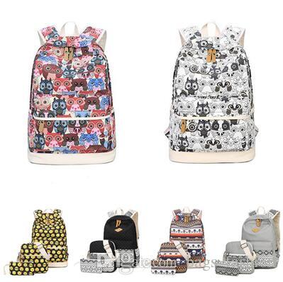 a193a05b0 Backpack Women Owl Printing Backpack Canvas Bookbags School Backpacks Bags  For Teenage Girls Bagpack Backbag DHL Free Shippin Gregory Backpacks Army  ...