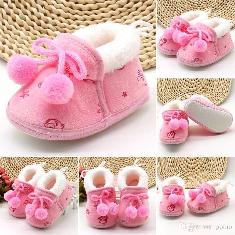 Kış Yenidoğan Bebek Bebe Yürüyor Kızlar Sıcak Yeni Yay Kar Ayakkabı Yenidoğan Için Bebek Yürüteç Beşik Çizmeler