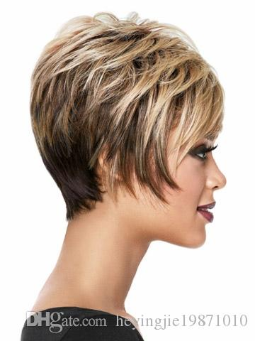 Xiu Zhi Mei Hot sell High Quality Pelucas Pelo Natural Multi Brown Short Wig Heat Resistant Synthetic Puffy African American Hair For Women