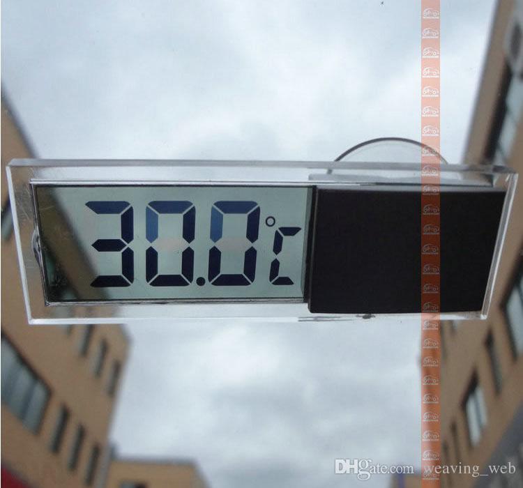 2016 venta caliente Termómetros Domésticos de alta calidad tipo osculum coche casa interior Termómetros transparentes digitales para el hogar