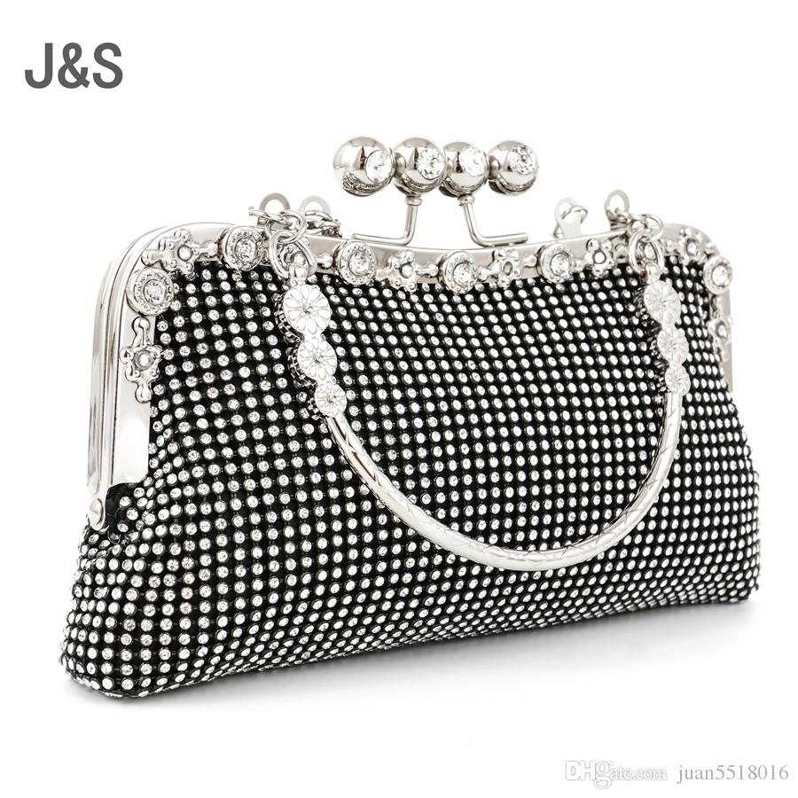 Doppelseitige Diamant-Handtasche NEUE Mode Frauen Trauben Schalter Abendtasche Luxus Frauen Elegante Clutch Wunderschöne Braut Hochzeit Party Bag Free Shi
