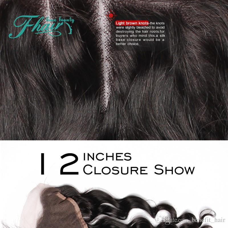 """Factory Outlet Free Middle Three Part 13X4 Lace Frontal Closure Extensions Pieces Loose Wave Braziliane Hair 8""""-24""""Inch Length Hair"""