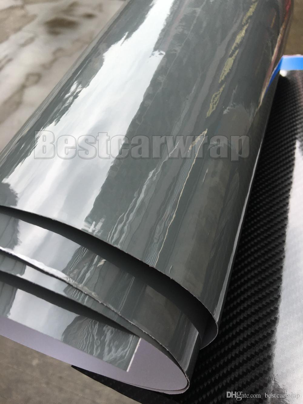 3 слоя цементный серый высокий глянец виниловая упаковка, как 3M цемент ультра глянцевый цемент автомобиль обернут пальто с воздухом свободный размер: 1,52 * 20 м / рулон 5x66ft