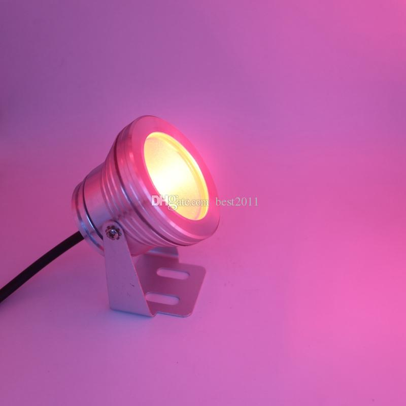 10W DC 12V copertura argento LED RGB luci subacquee Spot Impermeabile IP68 Fountain Pool Bulb Lamp 16 Cambia colore + telecomando IR