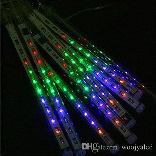 Tubes AC100-240V de pluie de pluie de pluie de météore multicolore de la lumière LED 30CM extérieure LED de Noël pour la décoration de jardin de noce