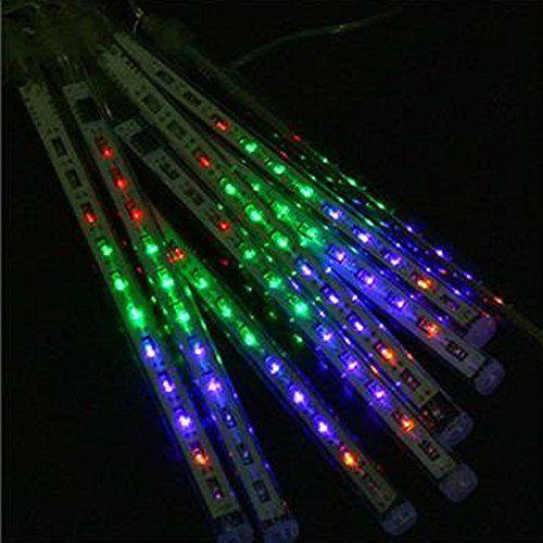 Waterproof Multi-color LED Light 30CM Meteor Shower Rain Tubes AC100-240V Outdoor LED Christmas Lights for Wedding Party Garden Decoration 1