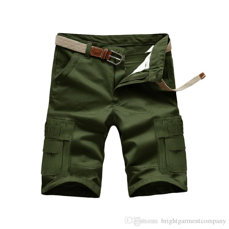 bb7ed4660fa5 2019 Mens Military Cargo Shorts 2016 Brand New Army Camouflage Shorts Men  Bermuda Loose Work Casual Short Pants Plus Size No Belt For Men Summer From  ...
