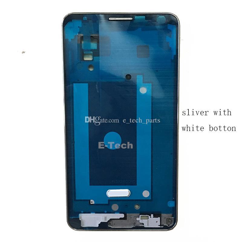 Samsung Galaxy Note 3 LTE 4G N9005 VS N900A N900T Ön Ekran LCD Çerçevesi Orta Bezel Konut + Home Düğmesi Gümüş için OEM