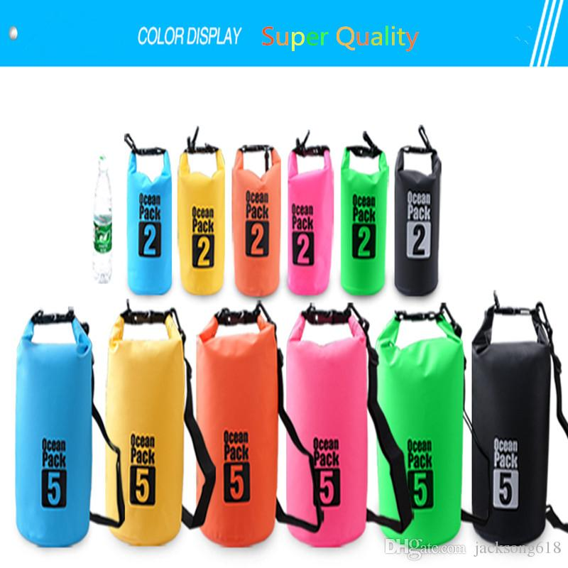2L Ultralight Portable Outdoor Bags Travel Rafting Drifting Dry Bag Storage Blue/White/Orange/Green Camping Equipment